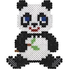 Perler Bead Panda Keychain by DesignsByAliselyn on Etsy