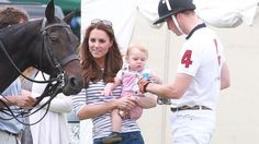 Prince George and Kate Middleton - Baby steels the show at Dad's Polo Match!