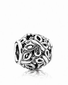 This intricate design in sterling silver evokes a beautiful field filled with graceful butterflies. Charm by Pandora. | Imported | Sterling silver  | Style #790895 | This item is only compatible with