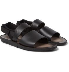 d88abc405259bf Stella Mccartney Cross Strap Faux Leather Sandals Black Multi ...