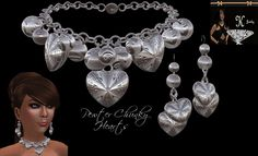 Pewter Chunky Hearts