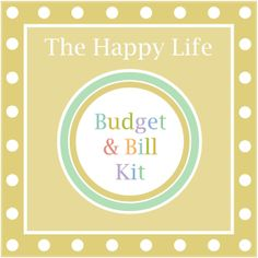 Get the Ultimate Money Kit with The Happy Life Budget & Bill Kit! Track your finances on 24 colorful pages! Set your goals, create a monthly budget, pay bills, track your spending, and reduce your debt with this happy and helpful kit!