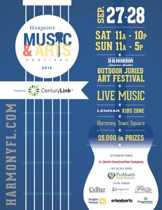 Harmony Music and Arts Festival...This Weekend! Two jam packed days of arts, food, vendors to shop and a solid line up of musicians showcasing their talents! Free admission and parking!