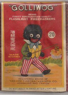 Firecracker Fireworks Black Memoribilla Scarce Golliwog Label 20 Class 1 China | eBay