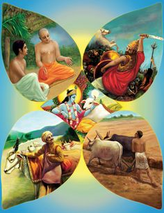 Bhagavad Gita: By worship of the Lord, man can, in the performance of his own duty, become perfect.