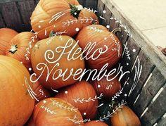 Goodbye October ~ Hello November!