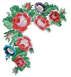 Cross Stitch Charts, Handicraft, Needlework, Floral Wreath, Embroidery, The Originals, Painting, Cross Stitch Patterns, Cross Stitch Embroidery