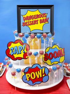 Superhero Staff Appreciation Week - Superhero Cake Pops