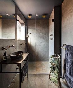 Love the earthy feel of this bathroom!! Project by: Alexander & Co. Image via: @thelocalproject  #architecture #homedesign #lifestyle #style #buildingdesign #landscapedesign #conceptdesign #interiors #decorating #interiordesign