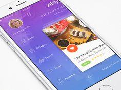 Zibly_Food Discovery App #app #ui #design
