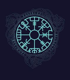 Viking Protection and compass Tattoo