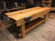 Workbench by Oscar Visser Woodworking Bench, Woodworking Projects, Workbench With Drawers, Big Box Store, Entryway Tables, Gallery, Furniture, Design, Home Decor