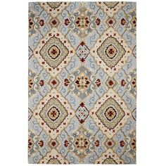 Diamond Scroll Rugs - Blue | Pier 1 Imports