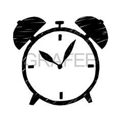 目覚まし時計のイラスト_サムネイル