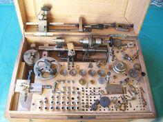 ALTES UHRMACHER WERKZEUG - BOLEY  DREHBANK - DREHSTUHL 8 MM | eBay