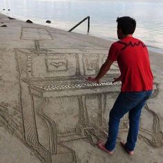 Funny pictures about Beach Piano. Oh, and cool pics about Beach Piano. Also, Beach Piano photos. Optical Illusion Photos, Cool Optical Illusions, Illusion Art, Perspective Photos, Forced Perspective, Cool Pictures, Cool Photos, Funny Pictures, Random Pictures