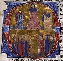 Raynald of Châtillon tortures Aimery of Limoges, Latin Patriarch of Antioch.William of Tyre's Historia and manuscript from Acre. Battle Of Hattin, Second Crusade, Bernard Of Clairvaux, Kingdom Of Jerusalem, He Is Lord, Art Roman, High Middle Ages, Knights Templar, Dark Ages