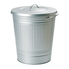 IKEA - KNODD, Bin with lid, white, 11 gallon, , Can be used anywhere in your home, even in damp areas like the bathroom and under covered balconies.