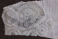 Handmade Victorian Lace & Tiny Pleated Pair Of Sleeves~Women's Clothing,Dolls