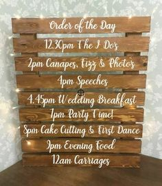 Check out Order of Service Wedding Ceremony Vinyl Decal Sign Writing Pallet Decoration DIY Wedding Ceremony Signs, Wedding Ceremony Decorations, Wedding Signage, Diy Wedding Signs, Homemade Wedding Decorations, Diy For Wedding, Signs At Weddings, Wedding Signing Table, Cool Wedding Ideas