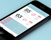 iOS7 Weather App by Dmitriy Haraberush, via Behance