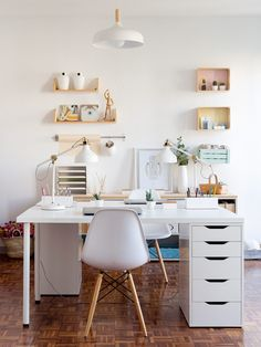 Desk Ikea Home Office Ideas . Desk Ikea Home Office Ideas . Linnmon Alex Table Ikea Also Like Glasholm top Mesa Home Office, Home Office Space, Home Office Desks, Home Office Furniture, Small Office, White Office, Office Workspace, Office Chairs, Small Workspace