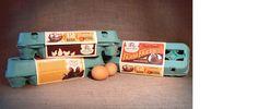 Los huevos retro de Rahal Farms, diseñados por el estudio Anderson Design Group de Nashville. Solo por ese packaging pagaría el doble de su precio.