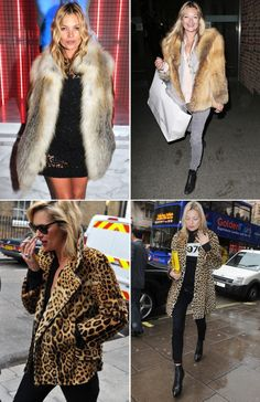KATE MOSS STYLE ICON | Collage Vintage. One style flaw of Kate is she (sadly) wear furs.
