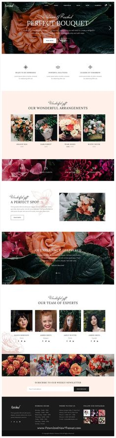 Rosebud is clean and modern design 3in1 responsive #WordPress #theme for #florist and #flower shop #eCommerce website to download & live preview click on image or Visit