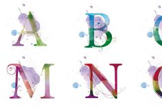 Watercolor Letters - pretty.