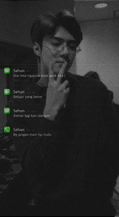 Plain Wallpaper Iphone, K Wallpaper, Phone Wallpaper Quotes, Galaxy Wallpaper, Kawaii Wallpaper, Sehun, Kpop Exo, Jeno Nct, Boyfriend Kpop