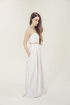 RTW Collection || E&W Couture || Mia Skirt || Plain Satin || Bridal Seperates || Alternative wedding dress