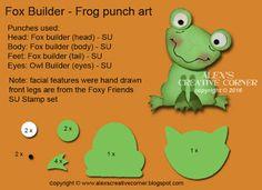 Alex's Creative Corner: Fox Builder Frog Punch Art