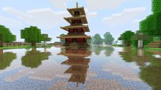 water shader reflection by alistarr182 d48fcbq 600x3371 40 Outstanding Minecraft Creations
