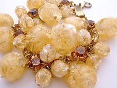 Vintage Juliana  Bead Rhinestone Bracelet by TheJewelryLadysStore, $150.00
