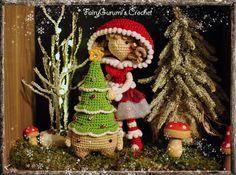 Amigurumi - Xaver the christmas tree (pattern by Lalylala)- Zelia the christmas doll (pattern by FairyGurumi's Crochet) crocheted by FairyGurumi's Crochet