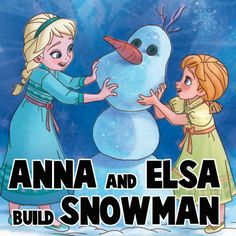 How to Draw Anna and Elsa Building a Snowman from Frozen with Step by Step Instructions