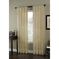 "Curtainworks Soho Voile Single Curtain Panel Color: Honey, Size: 59"" W x 120"" L"