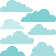 Silhouette Online Store - View Design #16140: 6 clouds