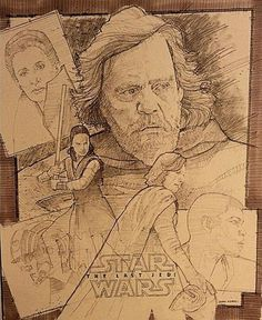 A great ink/pencil styled poster by John Knaus. 723 Days until Episode IX and ONE HUNDRED FORTY NINE DAYS UNTIL SOLO: A STAR WARS STORY