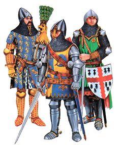 """• Gunther von Schwarzburg • Charles V as Dauphin • Roger de Northwoode"",  Christopher Rothero"