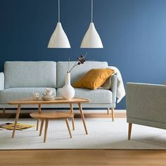 Having a bold colour on a wall can be a great way of adding something fresh to your home. What colour would you choose? Comment below or show us yours using and tagging us. Sofa Colors, Decor, Dream Decor, Home, Interior, Home Finder, Coffee Table, Beautiful Living Rooms, Home Decor