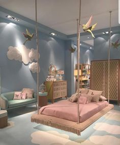 Cute Bedroom Design Ideas For Kids And Playful Spirits teenager zimmer mädchen schmetterlinge wand deko