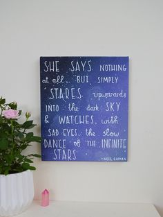 A personal favorite from my Etsy shop https://www.etsy.com/uk/listing/500829854/dance-of-the-infinite-stars-neil-gaiman