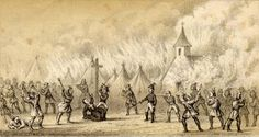 Death of Father Sebastian Rale of the Society of Jesus at the Battle of Norridgewock, 1724