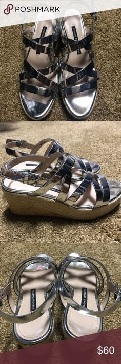 French Connection shoes . 6.5 Like New Like New , wear ones . Silver nice ,comfortable shoes . Size 6/5 French Connection Shoes Athletic Shoes