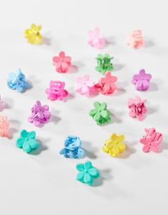 Set 20 Mini Pinzas Flores Mini, Floral Hair, Rose, Hair Clips, Stud Earrings, Accessories, Editorial, Coconut, Style