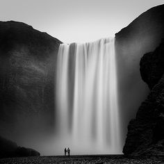 Skogafoss, a 60-meter high waterfall in the South of Iceland / via  Boer Flikr