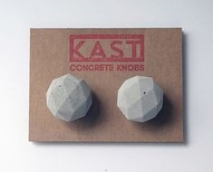 www.kastconcrete.com    FACETED GEOMETRY.    - Concrete Knob Pair  - Sealed with eco-friendly sealer for Food, Kitchen and Bath Safe - Contains
