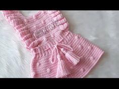 Crochet dress for children of any size Crochet Tutu Dress, Crochet Doll Clothes, Baby Girl Crochet, Crochet For Kids, Joining Crochet Squares, Baby Boutique Clothing, Knitted Baby Blankets, Crochet Videos, Baby Knitting Patterns